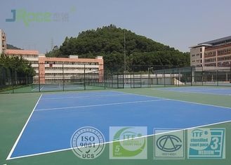 Olahraga Bulat Bulat Bulat Akrilik Permukaan, Multi Use Sports Court Hard Flooring