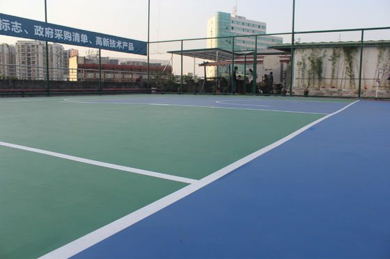 Green Color Terbuka Multi Sport Court Untuk Basketball Games / Badminton