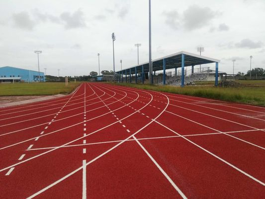 14MM Eco - Friendly Rubber Synthetic Sports Surfaces / All Weather Running Track