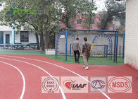 Athletics Running Track Flooring Weather Resistant For Outdoor Playground